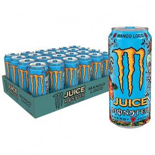Monster Energy Mango Loco mit tropischen Mangosaft 500ml 24er Pack