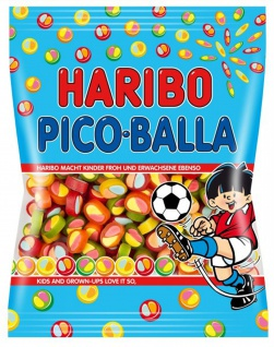 Haribo Pico Balla Fruchtgummi Stücke mit Konfektfüllung 175g