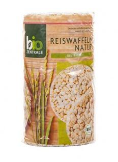 Bio Zentrale Bio Reiswaffeln natur knusprig Glutenfrei 100g 6er Pack