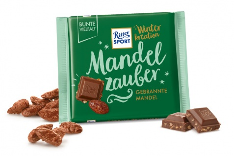 Ritter Sport Schokolade gebrannte Mandel Winter Kreation 100g