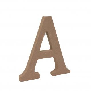 Bastelbuchstabe A Holzbuchstabe zum basteln Buchstabe aus Holz