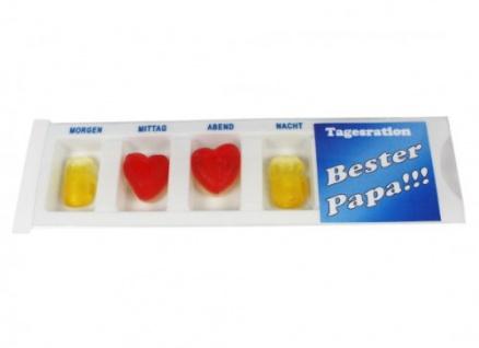 Tablettenbox Bester Papa gefüllt mit Fruchtgummi Scherzartikel 25g