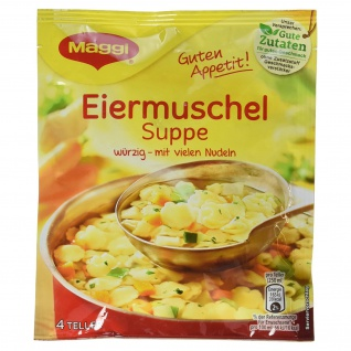 Maggi Guten Appetit, Eiermuschelsuppe, 91 g Beutel, ergibt 4 Teller
