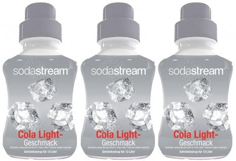 SodaStream Konzentrat Cola Light Geschmack Sirup 500ml 3er Pack