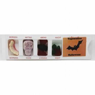 Tablettenbox Halloween Fledermaus mit Fruchtgummi Scherzartikel 25g