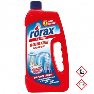 Rorax Rohrfrei Power Gel Abflußreiniger bekämpft Gerüche 1000 ml