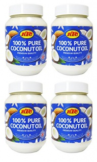 Kokosöl 100% Pur Kokosöl zum Braten KTC Pure Coconut Oil 500ml 4erPack