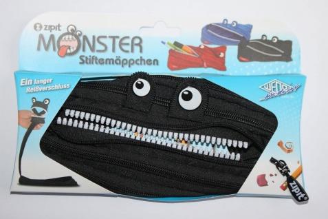 ZIPIT Monster Schulmäppchen Federmäppchen in Schwarz Polyester
