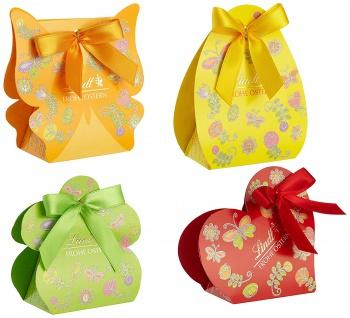 Lindt Kleines Ostergeschenk mit Mini Osterhasen Hohlfigur 4er Pack
