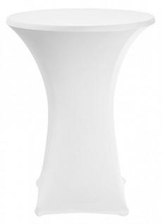 Stehtischhusse Basic Farbe weiß schnelle und einfache Montage 70-85cm