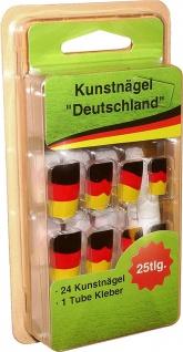 Cepewa Kunstnaegel Deutschland mit Kleber 24 Naegel 1 Kleber
