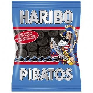 Haribo Piratos salzige Lakritztaler ohne künstliche Farbstoffe 200g