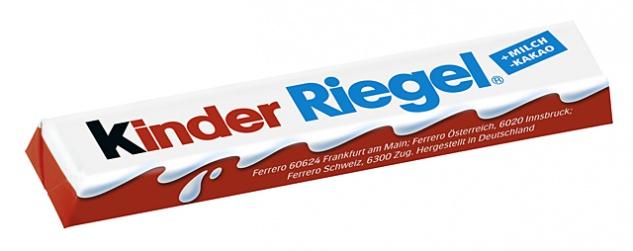 Ferrero Kinder Schokolade Milch-Creme-Füllung 10 Mini-Riegel 125g
