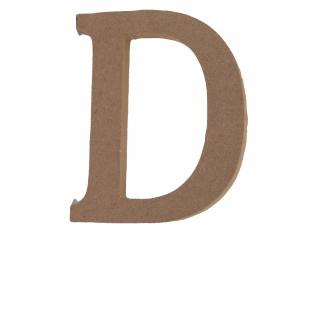 Bastelbuchstabe D Holzbuchstabe zum basteln Buchstabe aus Holz