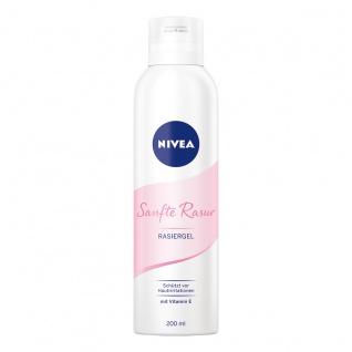 NIVEA Sanfte Rasur Rasiergel für Frauen cremiges Gel 200 ml 3er Pack