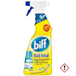 Biff Bad Reiniger Total gegen Kalk und Schmutz 750ml 4er Pack