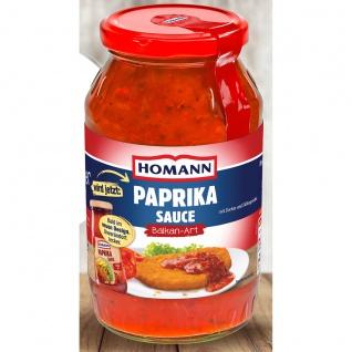 Homann Paprika Sauce Balkan Art mit Paprika Herzhaft pikant 500ml