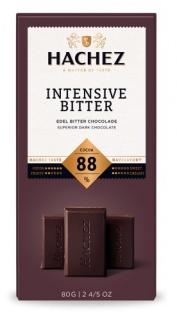 Hachez Schokolade Intensive Bitter mit 88% Kakao Füllung 80g