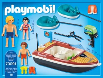 Playmobil Family Fun Sportboot mit Fun Reifen Spielset 70091