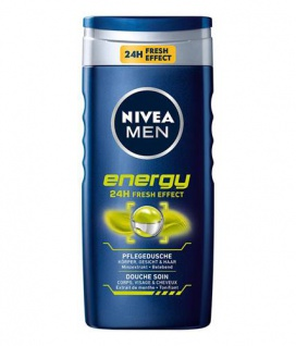 Nivea Duschgel Energy Pflegedusche for men 24h Fresh Effect 250ml 4er Pack