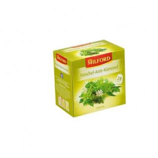 Milford Fenchel Anis Kümmel Kräutertee würzig aromatisch 56g