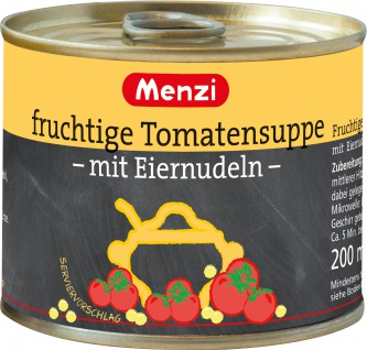 Menzi Fruchtige Tomatensuppe mit Eiernudeln und Kräutern 1000ml