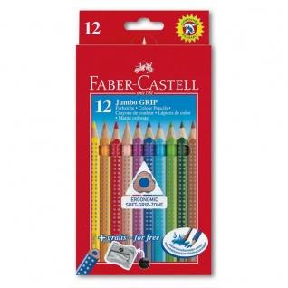 Faber Castell Colour Pencils Buntstift Jumbo Grip 12er Kartonetui