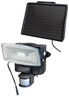 Brennenstuhl LED-Strahler SOL plus / LED-Leuchte für außen mit Bewegungsmelder und Solar-Panel (IP44, inkl. Akku, 8 x 0, 5W) Farbe: schwarz