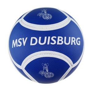 Fussball Carbon MSV Duisburg Fanball Größe 5 Farbe blau weiß