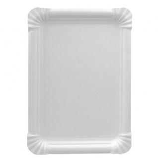 Einweg Papp Teller eckig weiß von Papstar Serie Pure 250 Stück