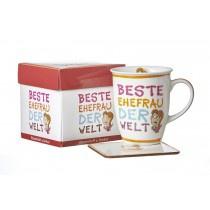 Ritzenhoff und Breker Kaffeebecher mit Geschenkebox Beste Ehefrau