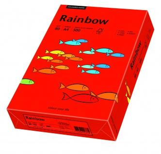 Kopierpapier Rainbow intensivrot A4