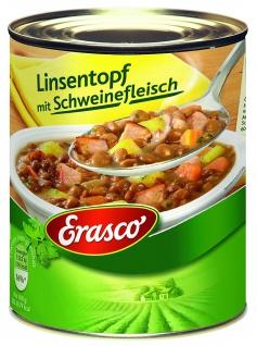 Erasco Linsentopf mit Schweinefleisch Fertiggericht 800g 3er Pack