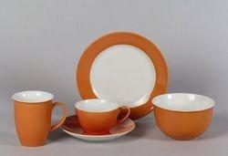 Doppio Serie Kaffeebecher / Kaffeetasse 320ml, orange,