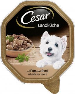Cesar Nassfutter Landküche mit Pute und Rind in köstlicher Sauce 150g