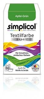 """Simplicol Textilfarbe expert -Für kreatives, einfaches Färben - 1714 """" Apfel-Grün"""" Neu!"""