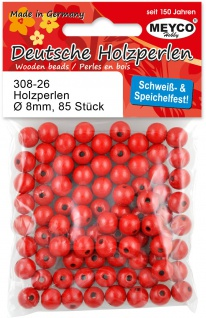Holzperlen rot 10 mm