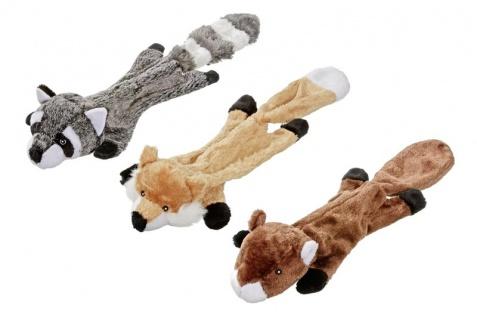 Hundeplüschspielzeug Plüschspielzeug Flat Long Sortiert mit Quitscher