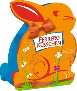 Ferrero Küsschen Klassik Osterhäschen 4 einzelne Pralinen 35g