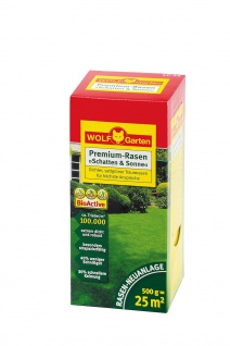 Wolf LP 25 Schatten und Sonne Rasensamen Premium sattgrüner Rasen