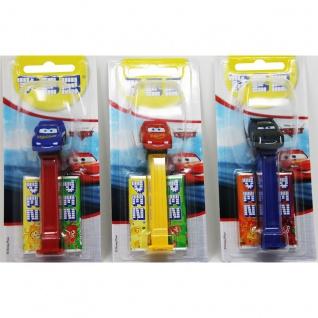 PEZ Cars Spender mit fruchtigen Bonbons 17g 12 Stück Display