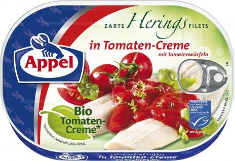 Appel Heringsfilets in Bio Tomaten Creme mit Tomatenwürfeln 200g