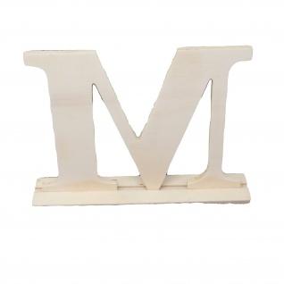 Holzbuchstabe M dekorativer Bastelbuchstabe aus Holz Höhe 150mm
