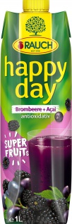 Rauch Happy Day Brombeer Superfruits Blackberry Acai 1000ml 6er Pack