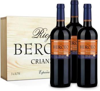 Vina Berceo Crianza feinwürzige Beeren und Nelkenoten 750ml 3er Pack