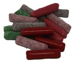 Kaubonbons Mischung fruchtig süß uns sauer 5 fach sortiert 175 gr