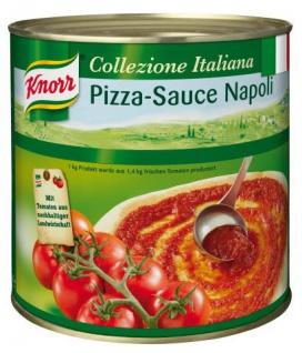 Unilever Knorr Pizza Sauce Napoli mit saftigen Tomatenstückchen 2600g