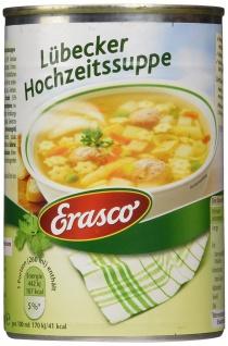 Erasco Lübecker Hochzeitssuppe mit Gartengemüse 390ml 3er Pack
