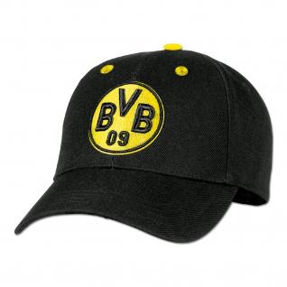 Kappe Borussia Dortmund Baumwolle schwarz größenverstellbar BVB Emblem