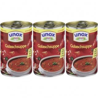 Unox Gulasch Suppe konzentriert ergibt doppelte Menge 382 ml 3er Pack